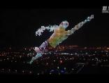 致敬!千架无人机重现中国奥运健儿夺冠瞬间